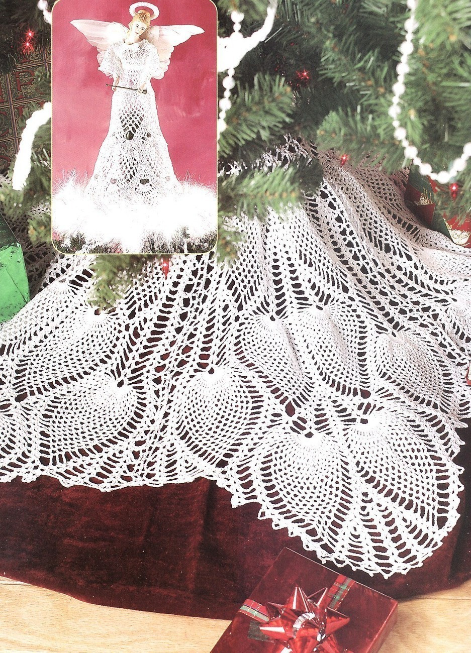 Free Crochet Tree Skirt Pattern Elegant Pineapple Tree Skirt & Angel topper Crochet Patterns Of Marvelous 49 Models Free Crochet Tree Skirt Pattern