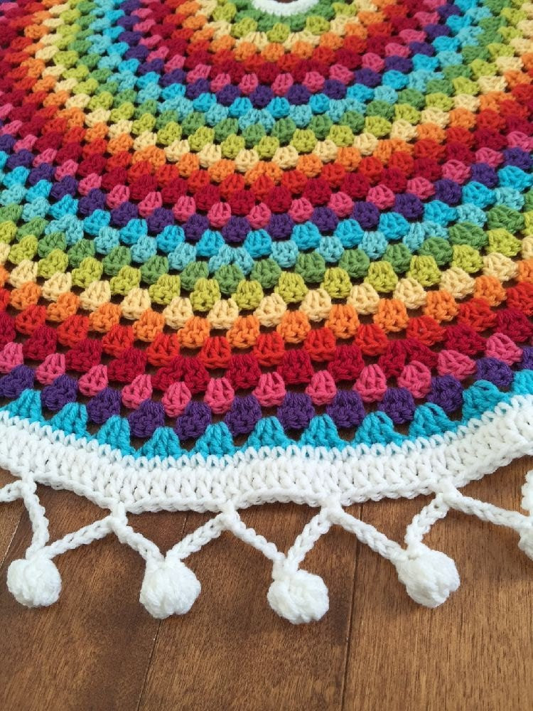 Free Crochet Tree Skirt Pattern Fresh Crochet Rainbow Christmas Tree Skirt Crochet Mandala Crochet Of Marvelous 49 Models Free Crochet Tree Skirt Pattern