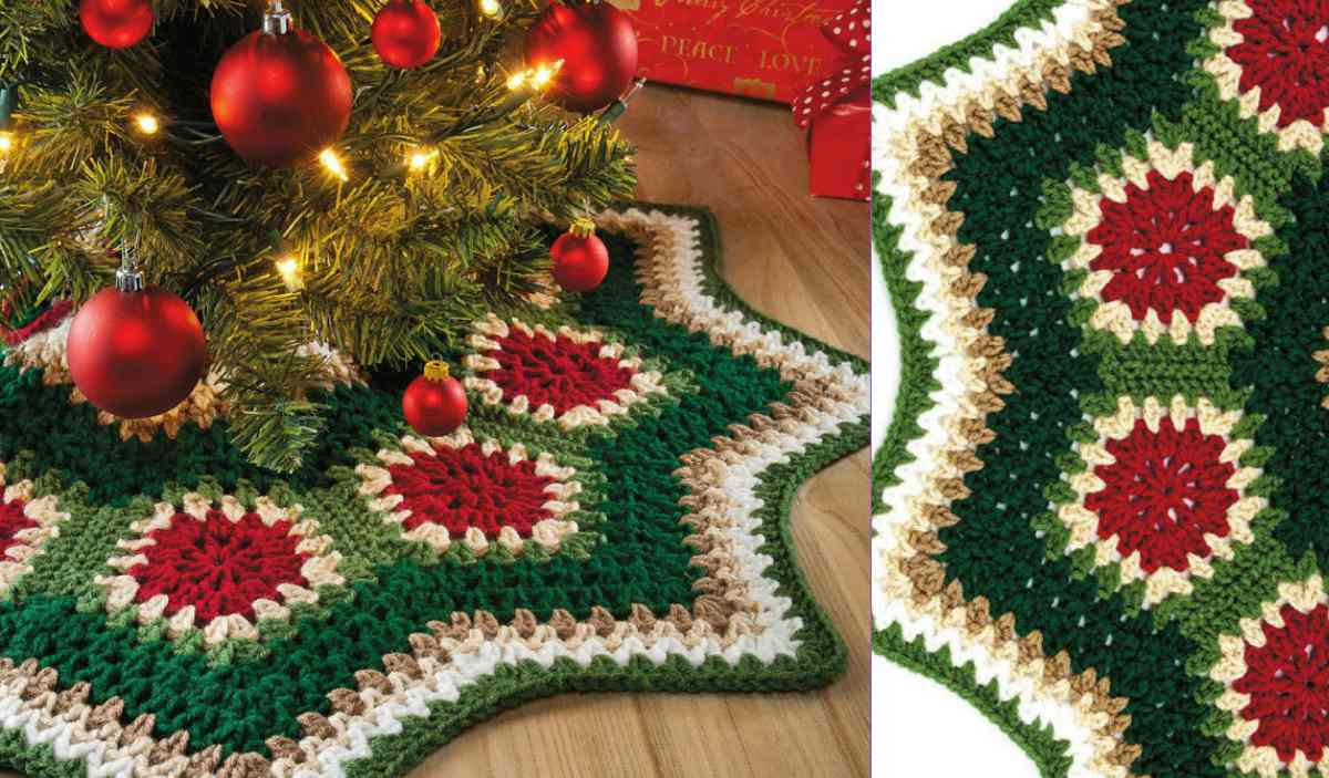 Free Crochet Tree Skirt Pattern Inspirational Granny Ripple Tree Skirt [free Pattern] Of Marvelous 49 Models Free Crochet Tree Skirt Pattern