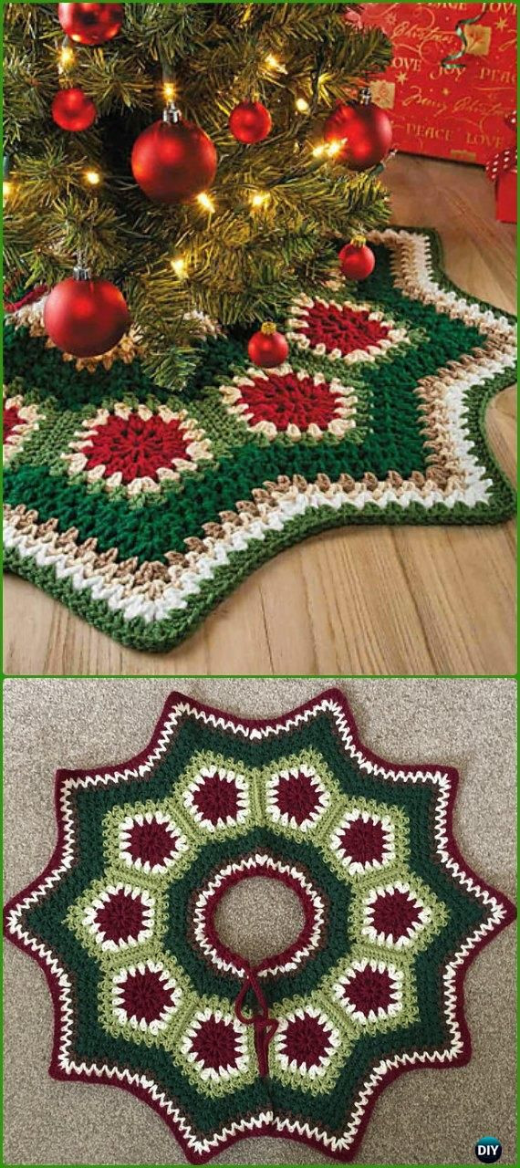 Free Crochet Tree Skirt Pattern Unique Crochet Christmas Tree Skirt Free Patterns Of Marvelous 49 Models Free Crochet Tree Skirt Pattern