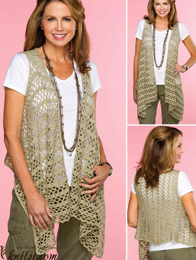 Free Crochet Vest Patterns Best Of Draped Crochet Vest Pattern Of Awesome 41 Images Free Crochet Vest Patterns