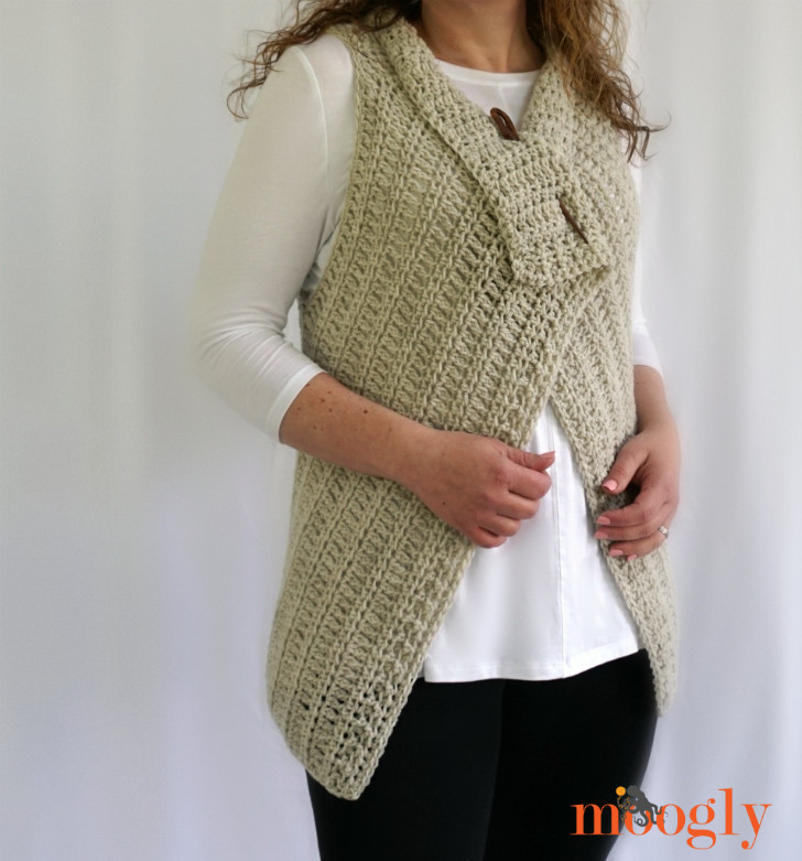 Free Crochet Vest Patterns Luxury Simple Waterfall Vest Free Crochet Pattern On Moogly Of Awesome 41 Images Free Crochet Vest Patterns