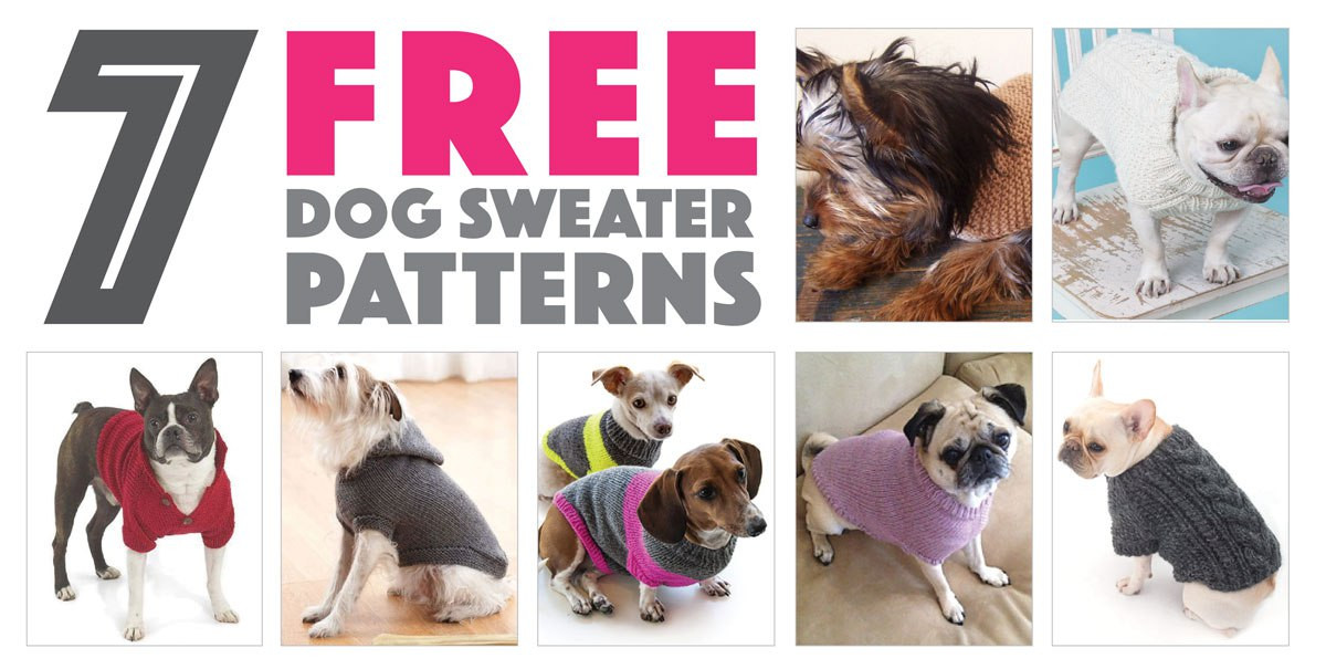 Free Dog Sweater Patterns Fresh Seven Free Dog Sweater Patterns the Broke Dog Of Innovative 47 Models Free Dog Sweater Patterns