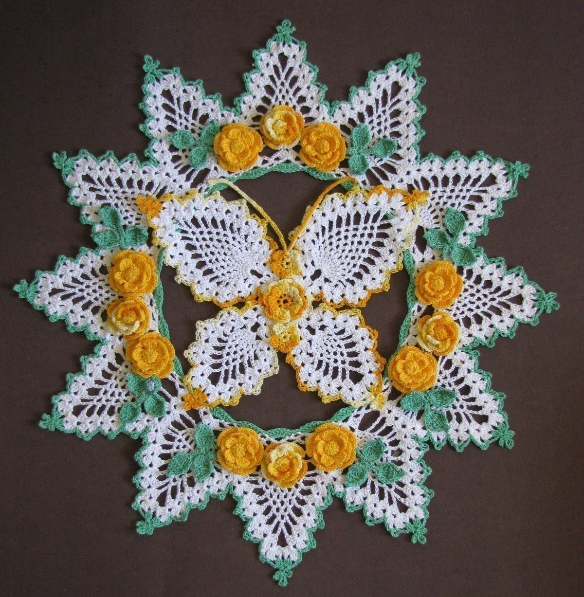 CROCHET DOILY PATTERN PINEAPPLE Crochet — Learn How to