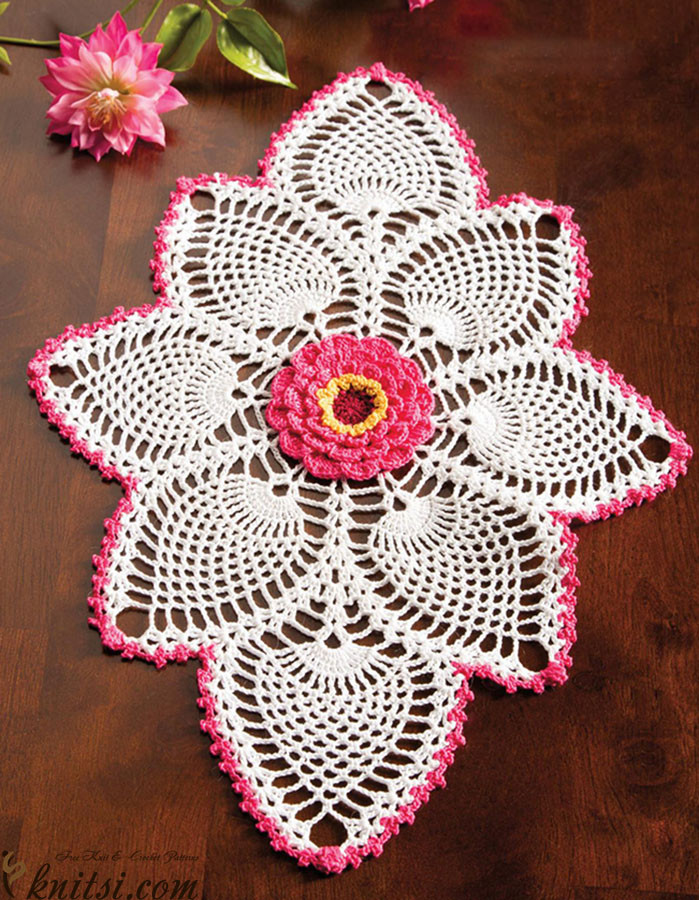 free crochet patterns oval doilies