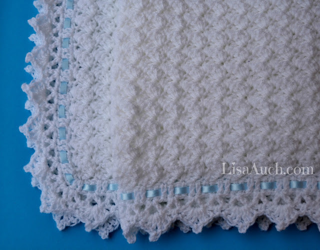 Red White and Baby Blanket FREE crochet pattern on