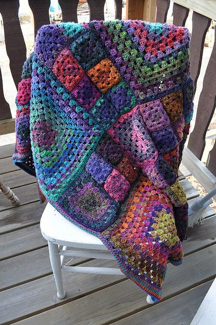 Granny s a Square Afghan free pattern on Ravelry