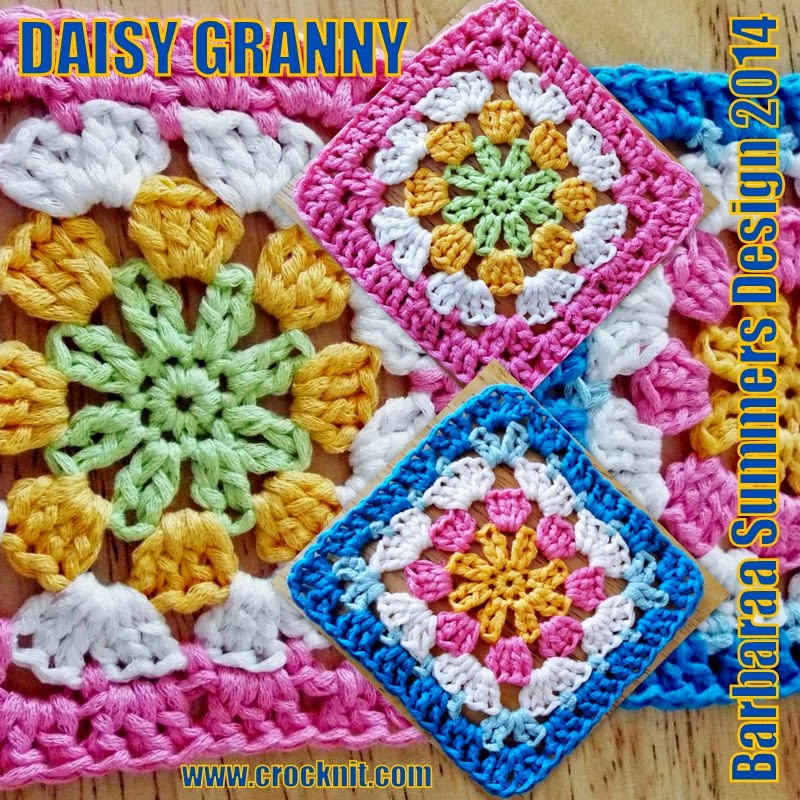 MICROCKNIT CREATIONS DAISY GRANNY Square Crochet FREE Pattern