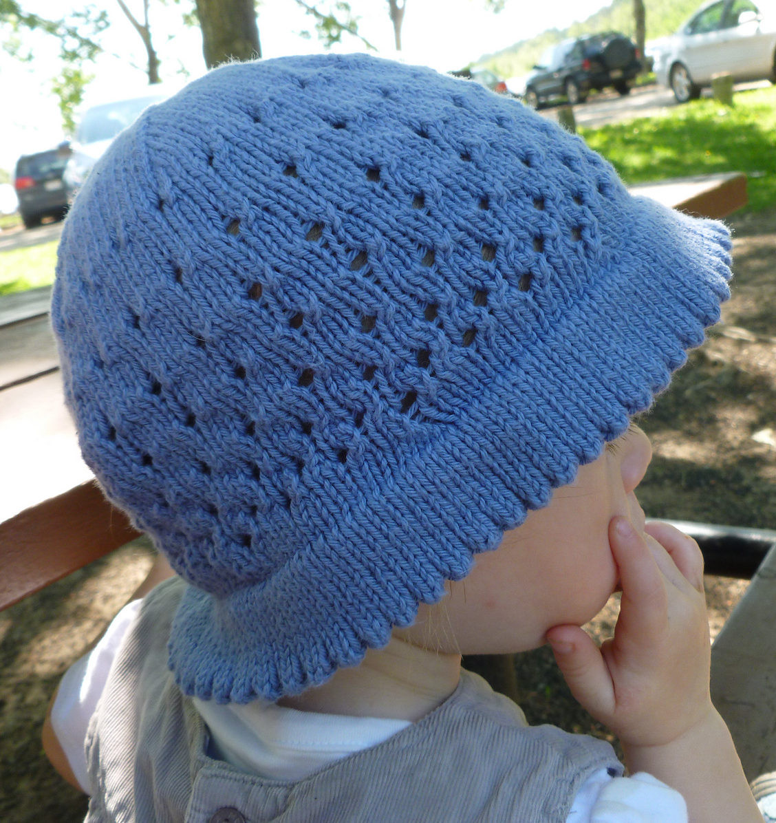Baby Hats With Brims Knitting Patterns