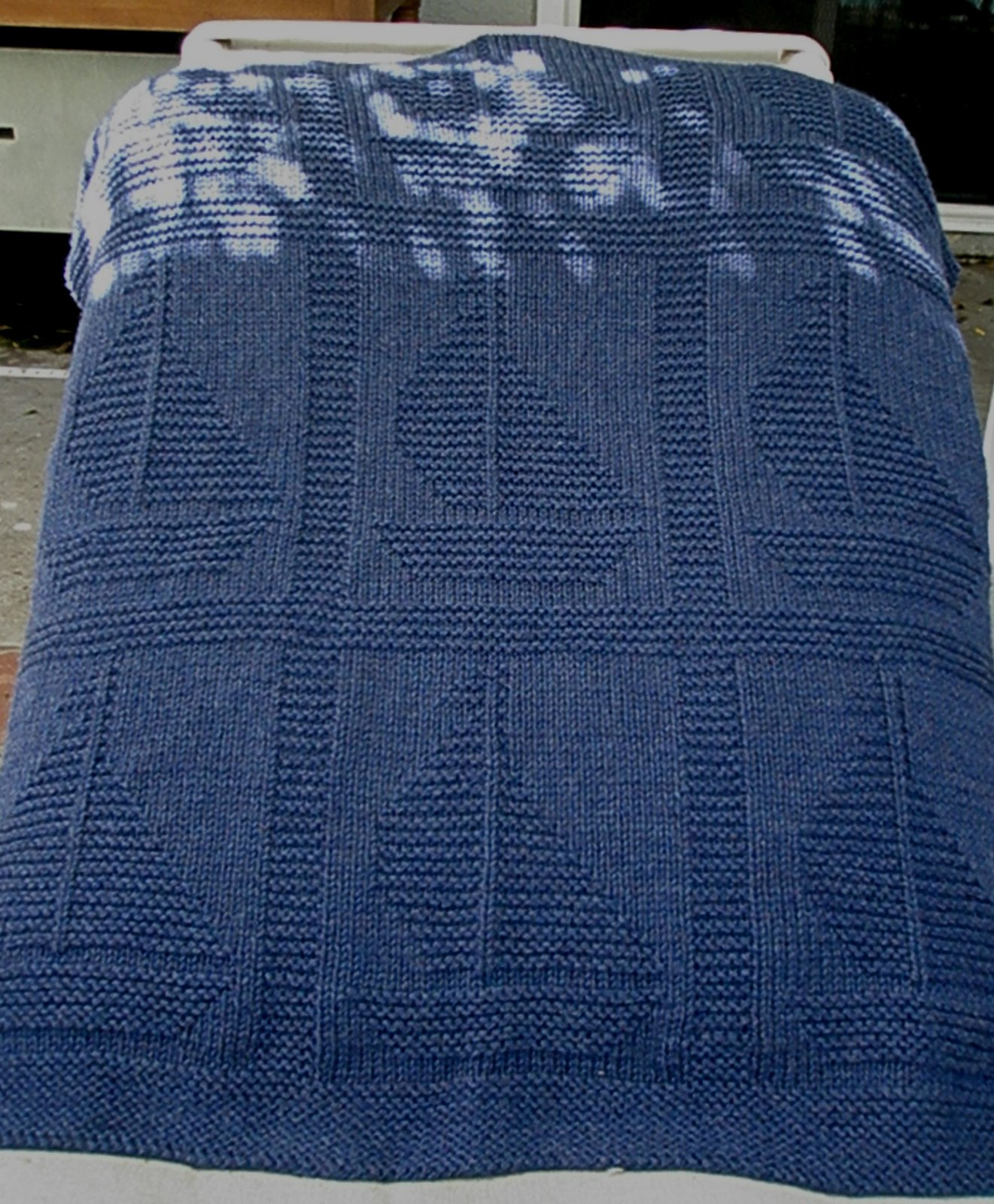 """Free Knitted Baby Afghan Patterns Awesome """" E Sail Away"""" Blanket Free Knitting Pattern by Yarnhog Of Superb 43 Pics Free Knitted Baby Afghan Patterns"""