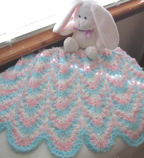 KNIT PATTERN FOR BABY BLANKET FREE PATTERNS
