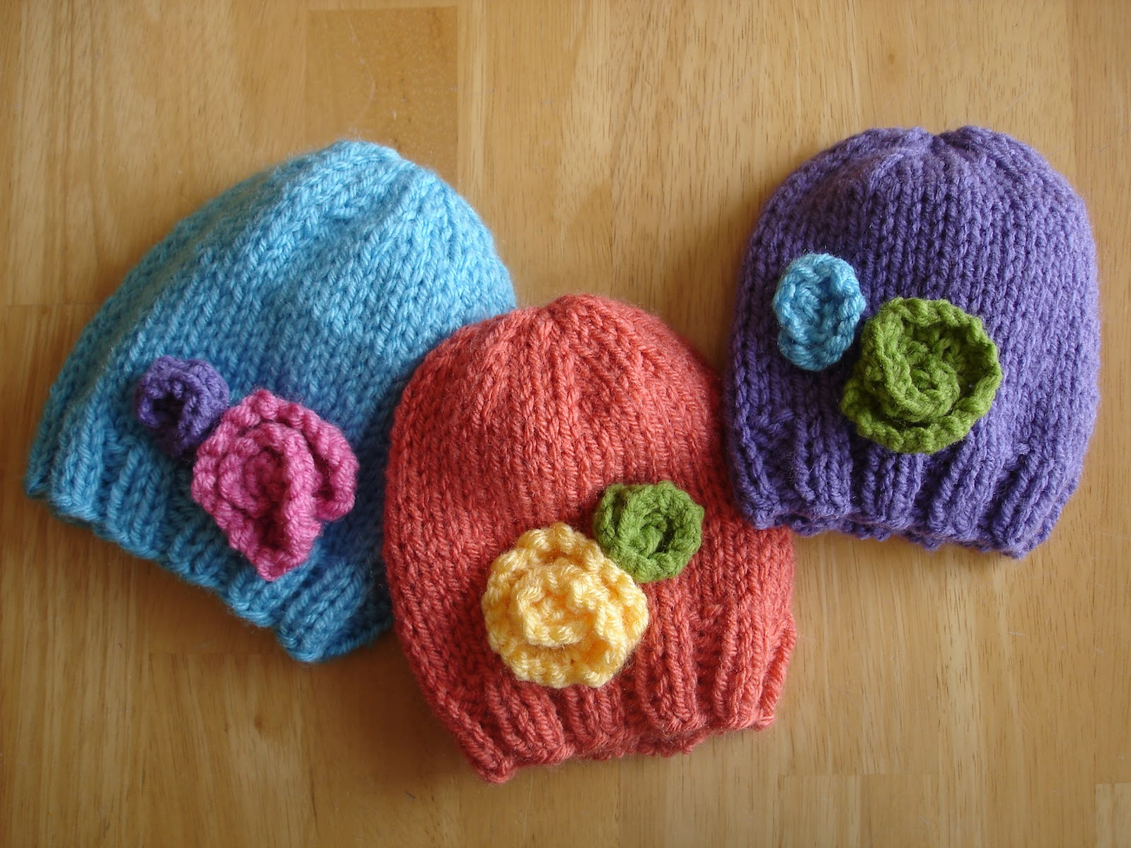 Free Knitting Patterns for Baby Hats Beautiful Fiber Flux Free Knitting Pattern Baby In Bloom Hats Of Perfect 44 Models Free Knitting Patterns for Baby Hats
