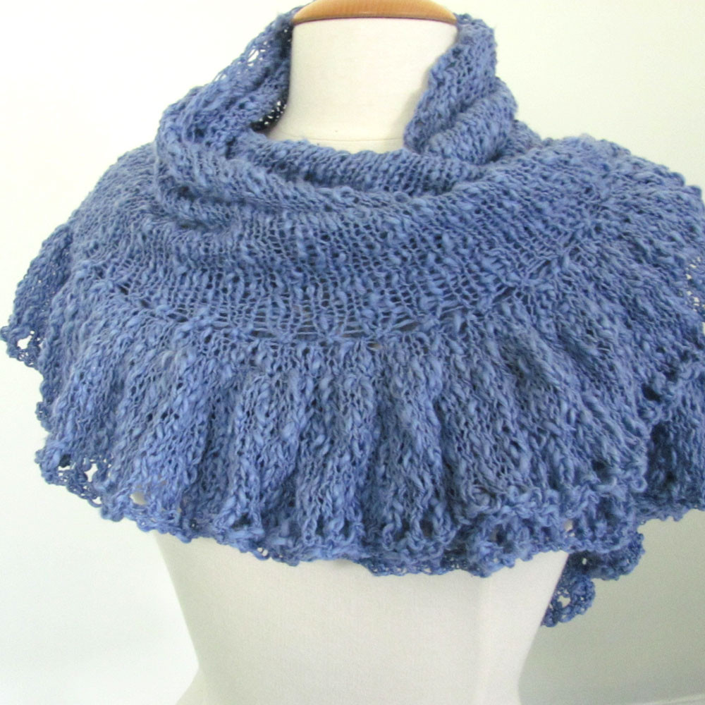 Simple Knit Triangle Shawl free Pattern