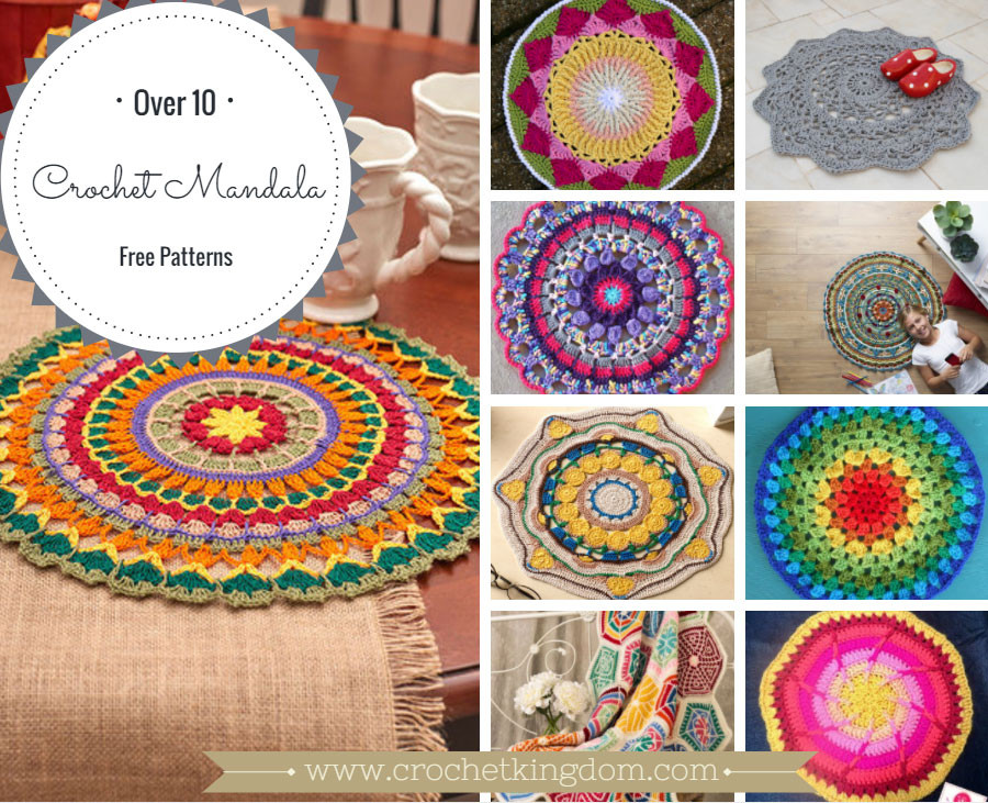 Free Mandala Crochet Patterns Beautiful 10 Free Crochet Mandala Patterns ⋆ Crochet Kingdom Of Innovative 45 Models Free Mandala Crochet Patterns