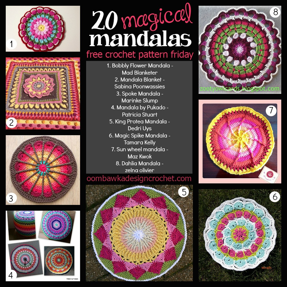 Free Mandala Crochet Patterns Inspirational 20 Free Magical Mandala Patterns • Oombawka Design Crochet Of Innovative 45 Models Free Mandala Crochet Patterns