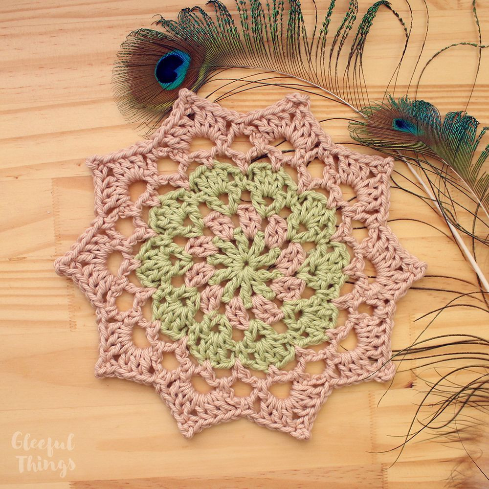 Free Crochet Pattern Birthday Mandala