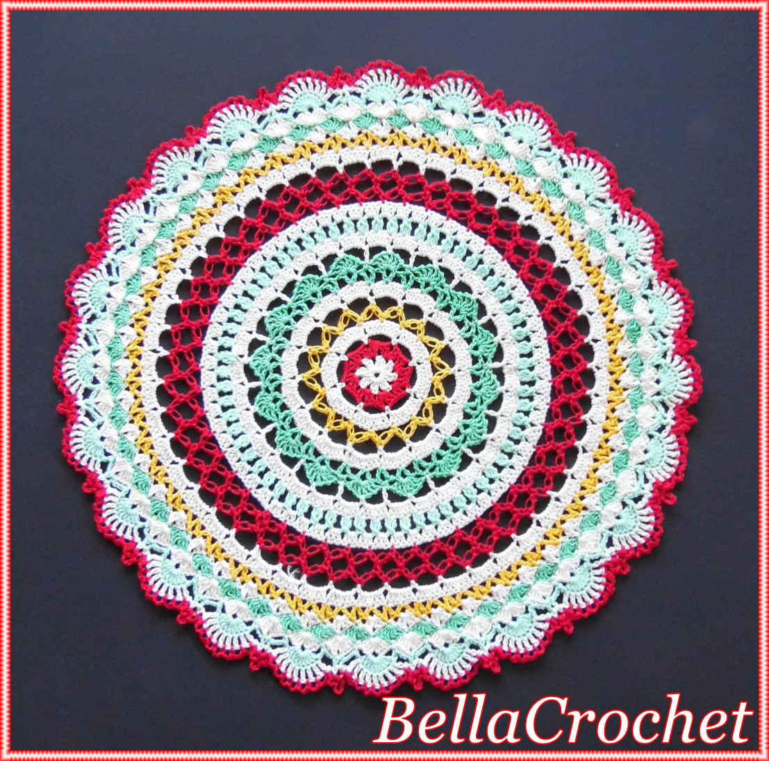 Free Mandala Crochet Patterns Unique Bellacrochet Sweet Memories Mandala Doily A Free Crochet Of Innovative 45 Models Free Mandala Crochet Patterns
