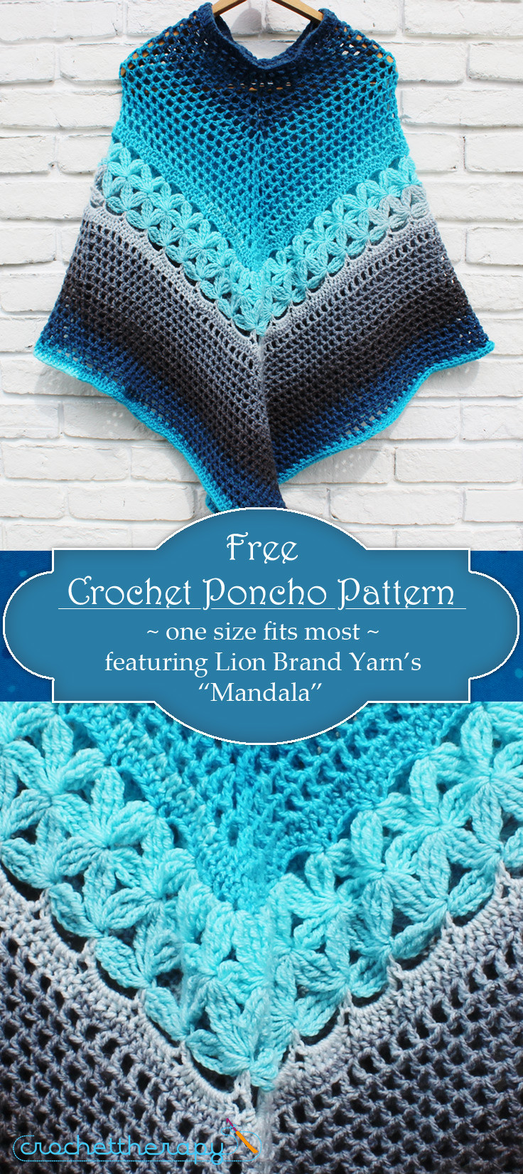 Free Mandala Crochet Patterns Unique Free Crochet Yarn Cake Poncho Pattern Mandala Yarn Of Innovative 45 Models Free Mandala Crochet Patterns