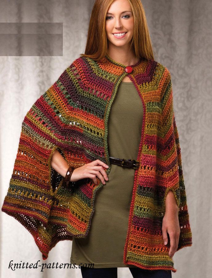 Free Poncho Patterns Elegant the 25 Best Crochet Cape Ideas On Pinterest Of Marvelous 41 Models Free Poncho Patterns