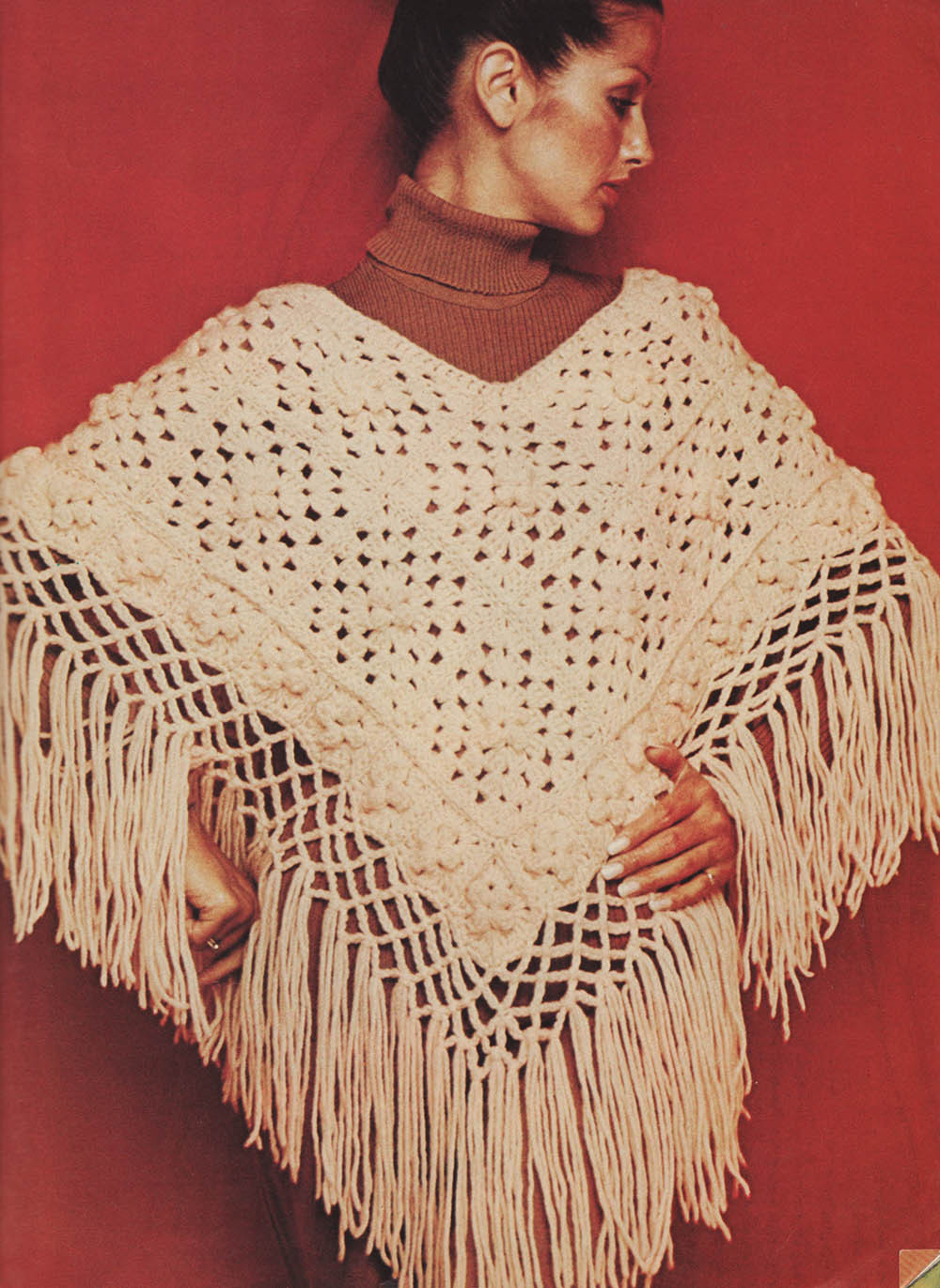 The Vintage Pattern Files 1970s Crochet Fringed Poncho