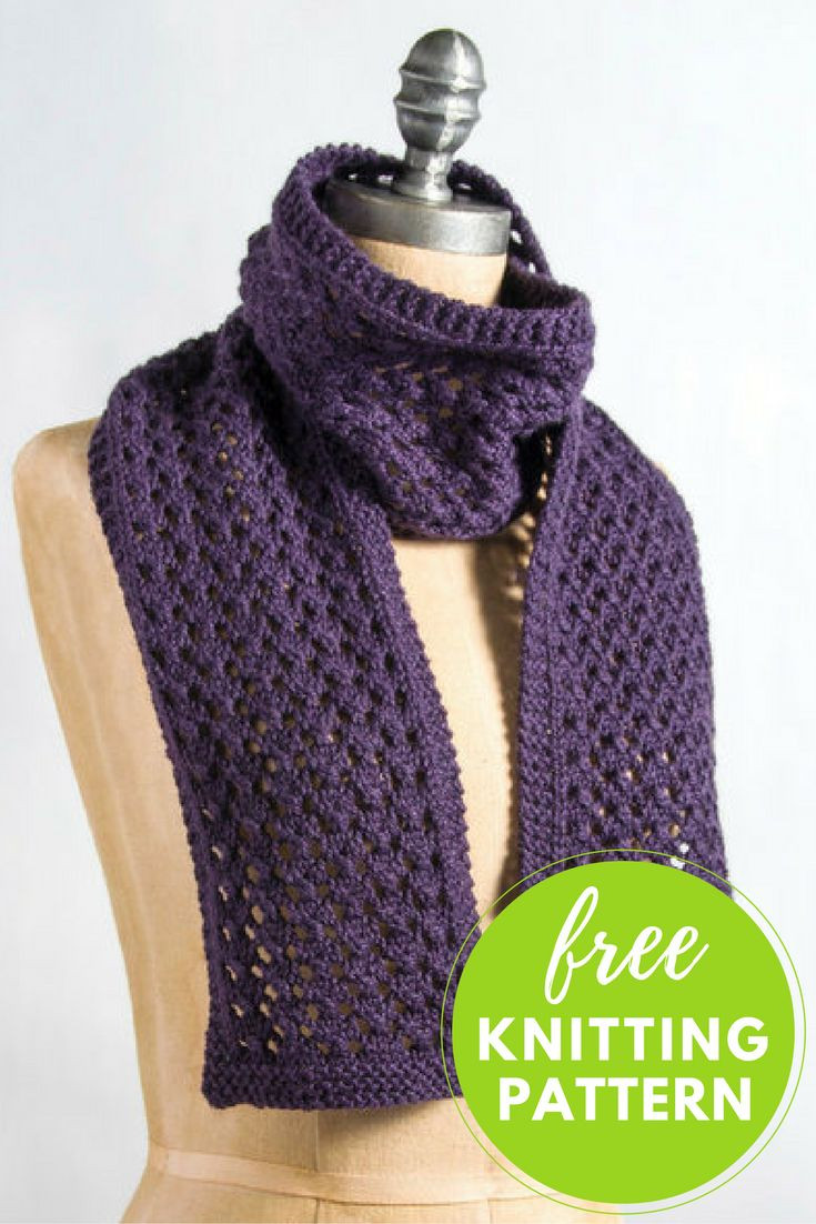 Free Scarf Knitting Patterns Awesome Best 25 Lace Scarf Ideas On Pinterest Of Innovative 40 Pics Free Scarf Knitting Patterns