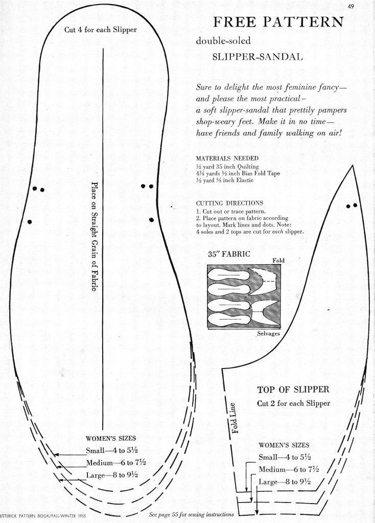 Free Slipper Patterns Inspirational What I Found Free Pattern for Double soled Slipper Sandal Of Luxury 50 Ideas Free Slipper Patterns