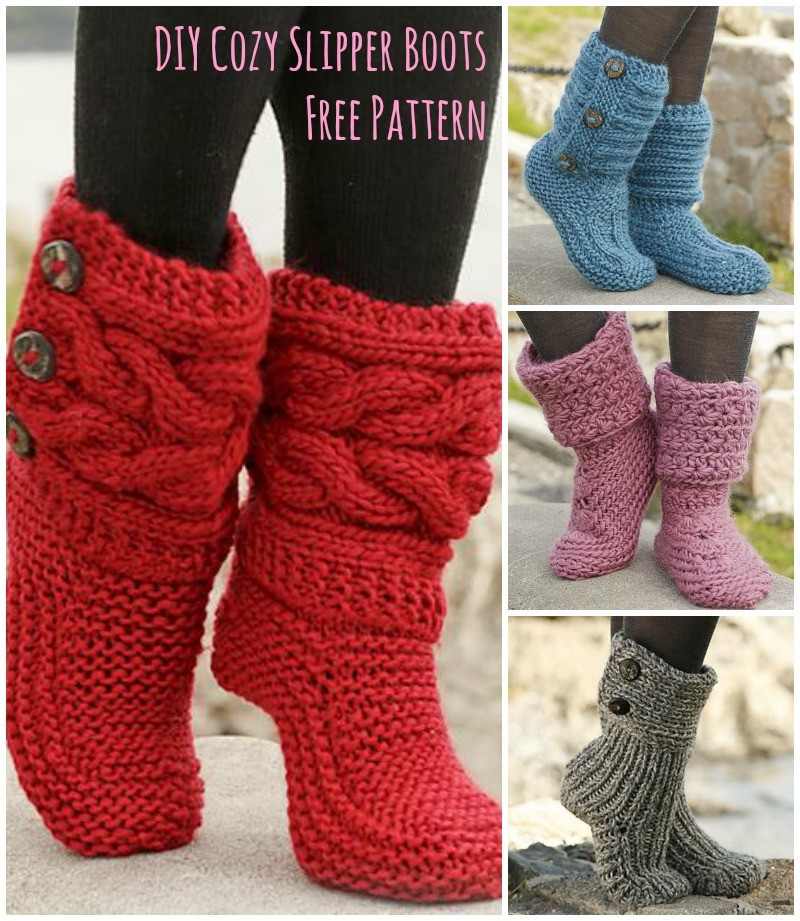 Free Slipper Patterns Lovely [free Pattern] Amazingly Cozy Looking Slipper Boots Page Of Luxury 50 Ideas Free Slipper Patterns