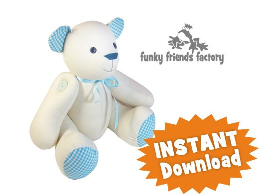 Free Teddy Bear Patterns Unique Signature Bear Calico Teddy Bear Instant Download Sewing Of Awesome 47 Ideas Free Teddy Bear Patterns