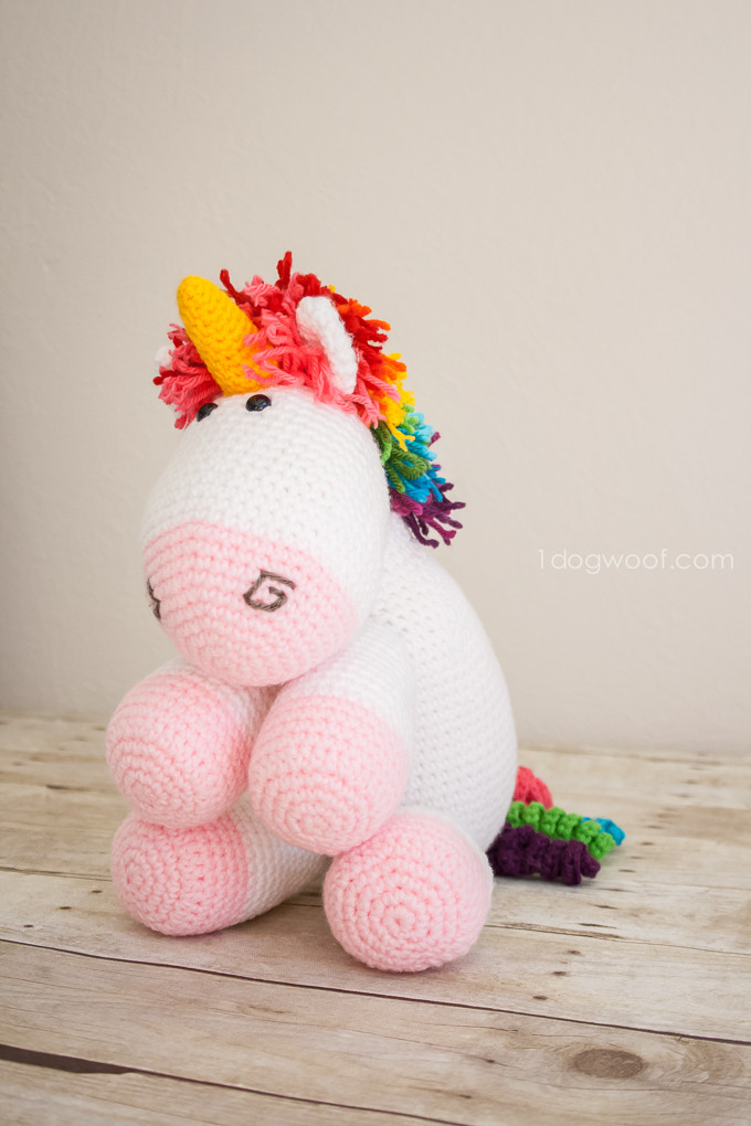 Free Unicorn Crochet Pattern Awesome Rainbow Cuddles Crochet Unicorn Pattern E Dog Woof Of Free Unicorn Crochet Pattern Unique Dada Neon Crochet Tiny Rainbow Unicorn Amigurumi by