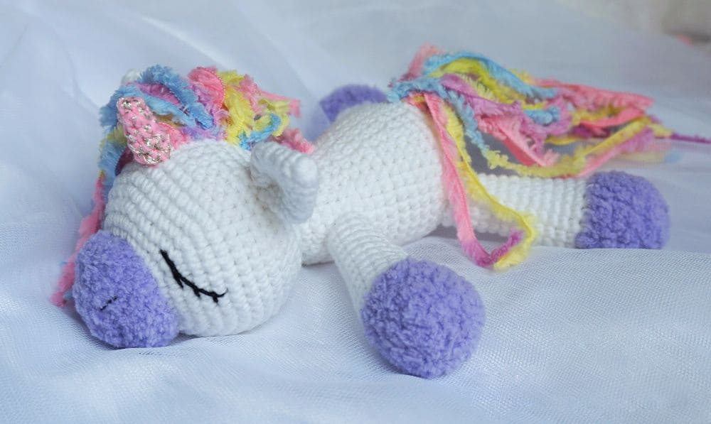 Free Unicorn Crochet Pattern Awesome Sleeping Unicorn Pony Crochet Pattern Amigurumi today Of Free Unicorn Crochet Pattern Unique Dada Neon Crochet Tiny Rainbow Unicorn Amigurumi by