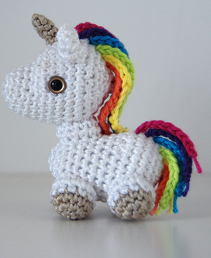 Free Unicorn Crochet Pattern Fresh Free Amigurumi Patterns & Tutorials • Wixxl Of Free Unicorn Crochet Pattern Unique Dada Neon Crochet Tiny Rainbow Unicorn Amigurumi by