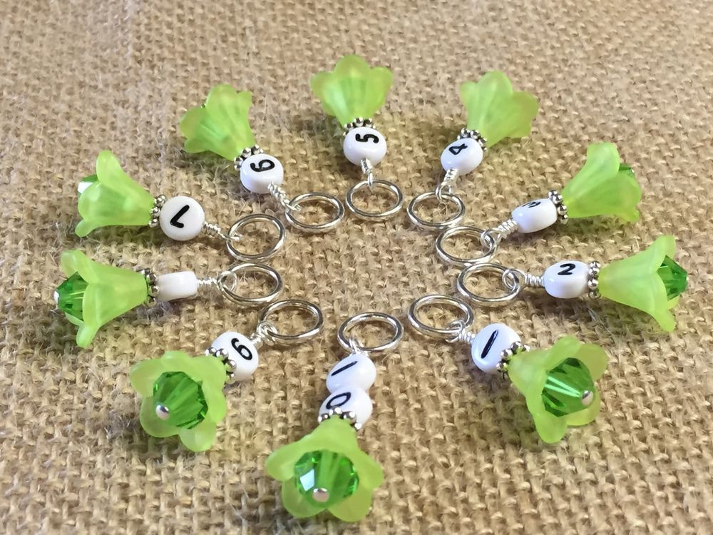 1 10 Row Counter Stitch Markers Number Markers For