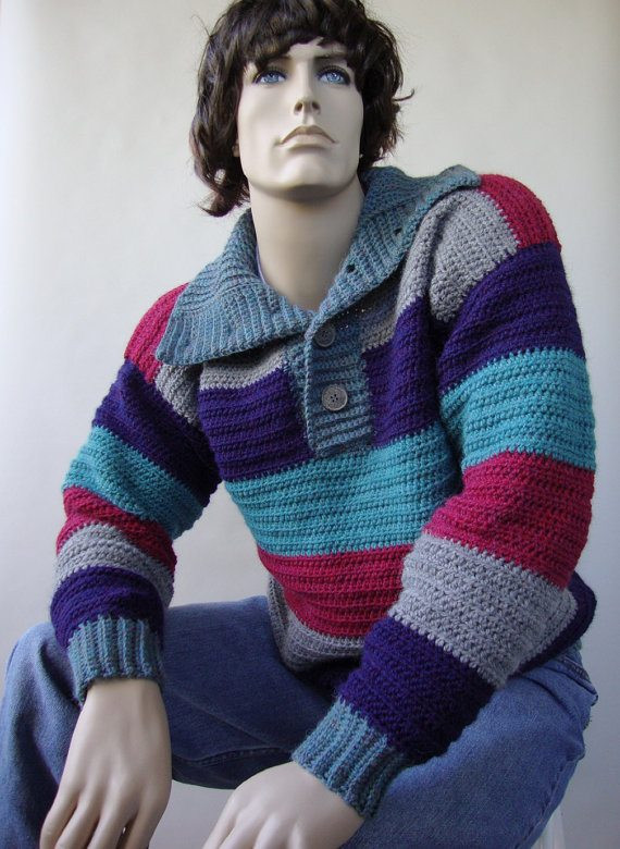 Fresh 10 Crochet Sweater Patterns for Men – Crochet Concupiscence Crochet Mens Sweater Of Attractive 49 Pictures Crochet Mens Sweater