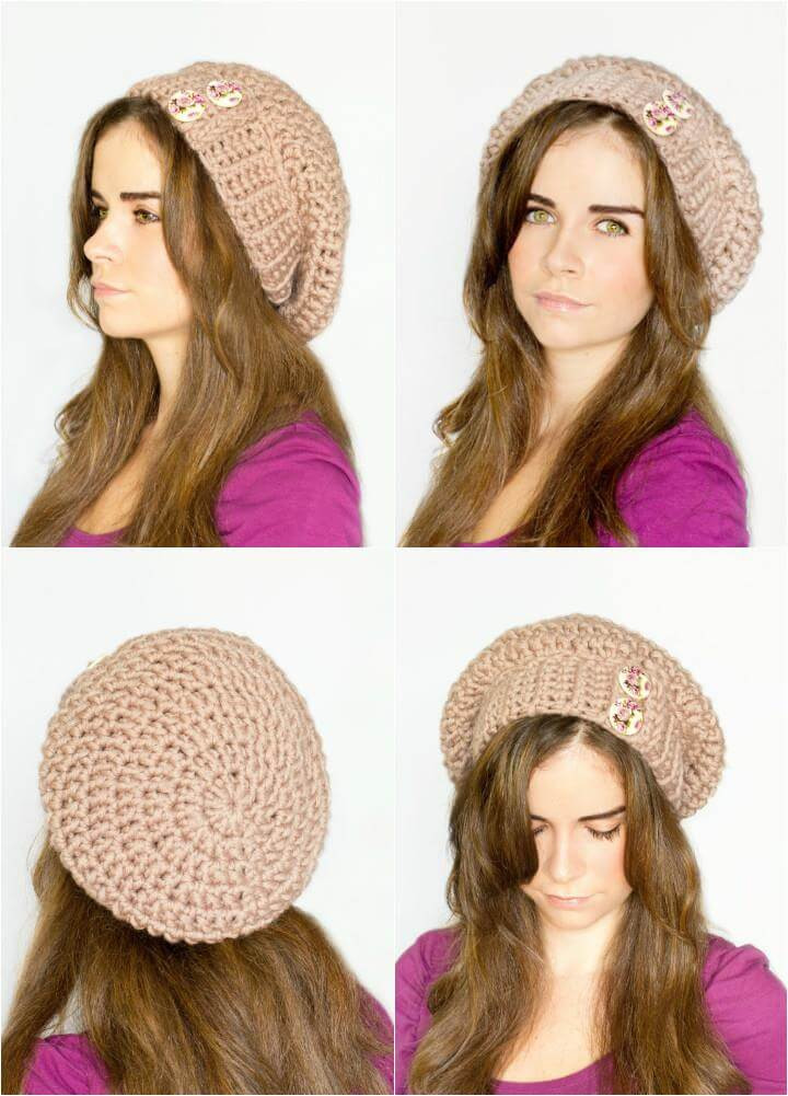 10 free crochet patterns for slouch hat