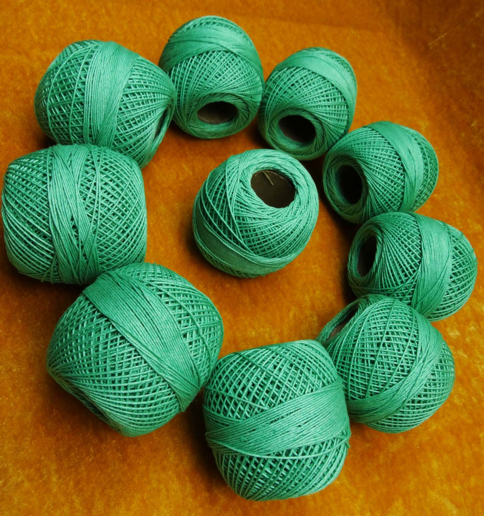 10 Pcs Yellow Mercer Cotton Crochet Thread Yarn Tatting