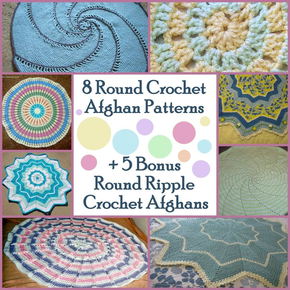 Fresh 10 Round Crochet Afghan Patterns 7 Bonus Round Ripple Round Crochet Blanket Of Fresh 46 Models Round Crochet Blanket