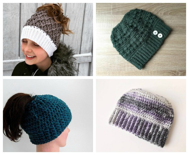 Fresh 12 Crochet Messy Bun Hat Patterns Messy Bun Beanie Crochet Pattern Of Adorable 45 Pics Messy Bun Beanie Crochet Pattern