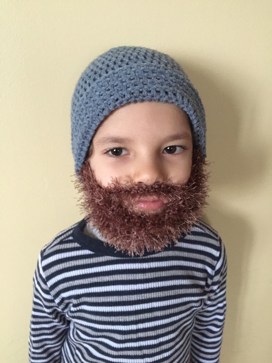 13 Crochet Hats With Beards We're Obsessed With Rugged