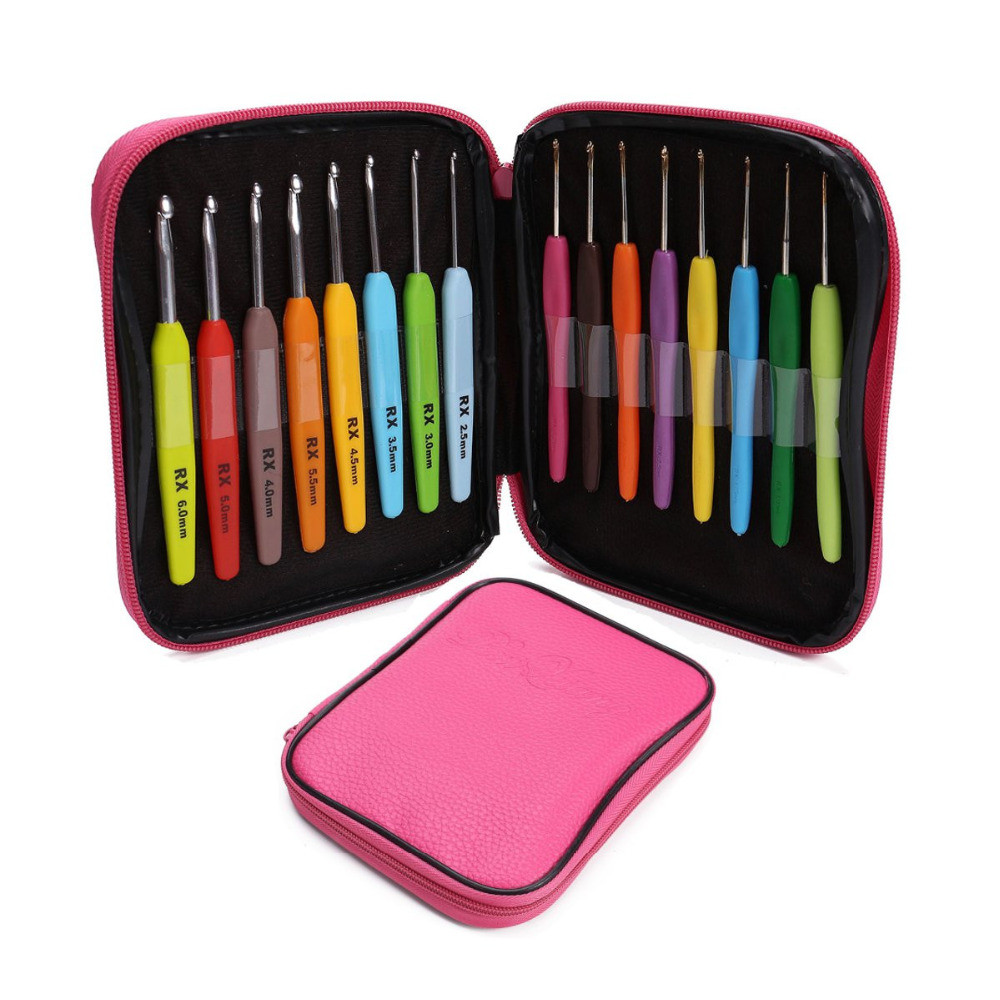 Fresh 16pcs Multi Colour Crochet Hooks Yarn Knitting Needles Set Crochet Hook Sets with Case Of Amazing 49 Images Crochet Hook Sets with Case