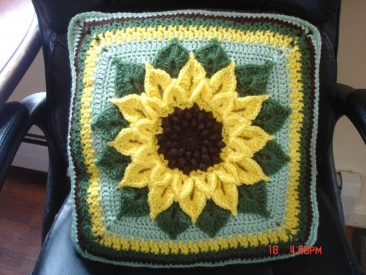 Fresh 176 Best Sunflower Crafts Images On Pinterest Sunflower Crochet Blanket Of Elegant Hand Crocheted Sunflower Granny Square Blanket Afghan Throw Sunflower Crochet Blanket