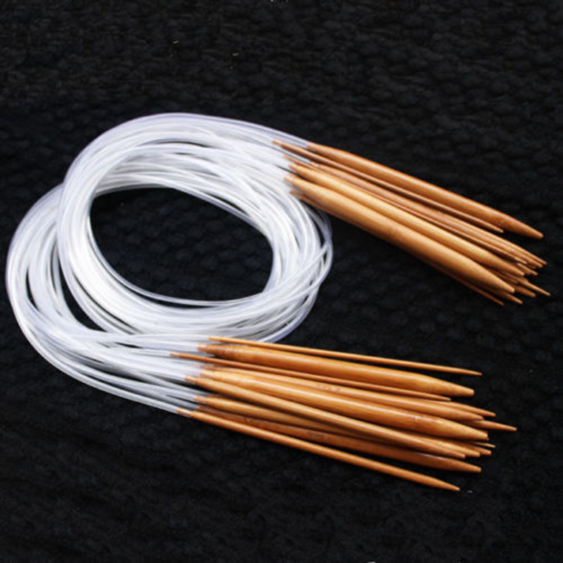 Fresh 18 Sizes 40cm 120cm Double Point Carbonized Circular Round Knitting Needles Of Amazing 50 Pics Round Knitting Needles