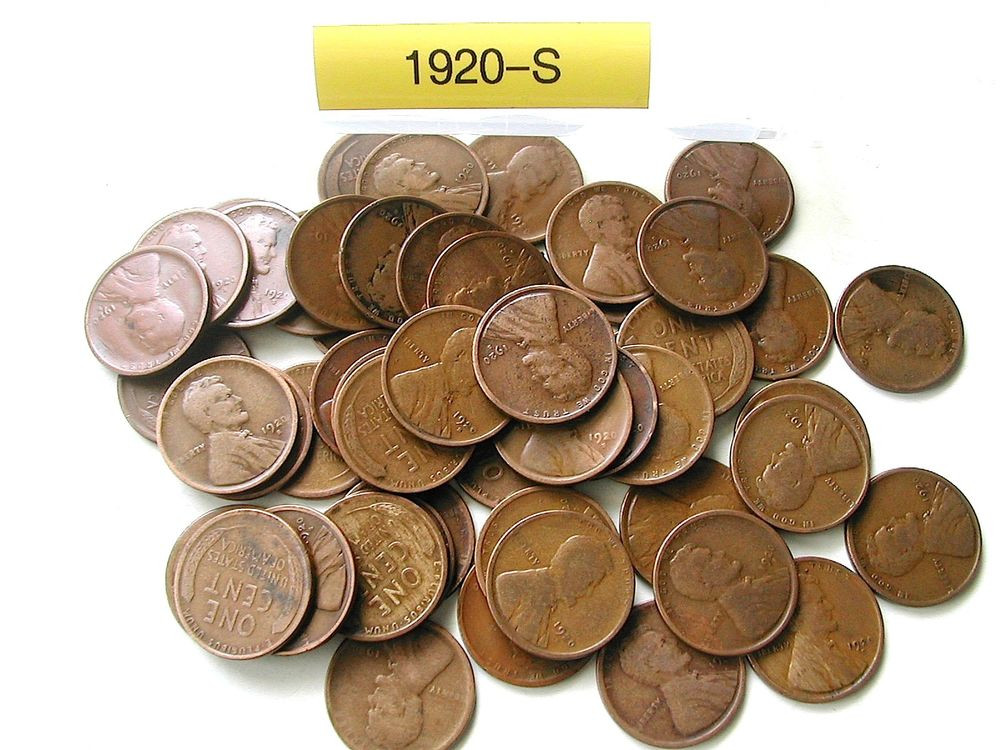 1920 S LINCOLN WHEAT CENT PENNY ROLL