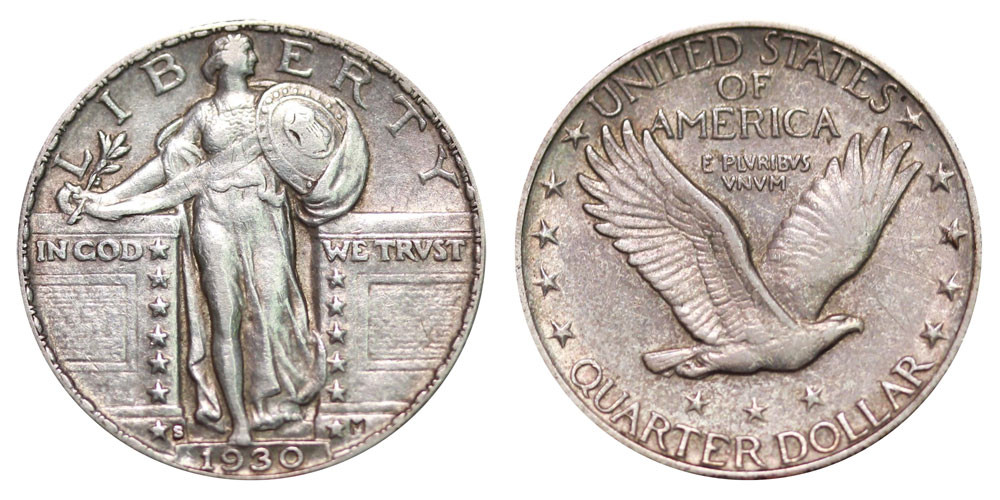 1930 S Standing Liberty Quarters Type 2 Value and Prices