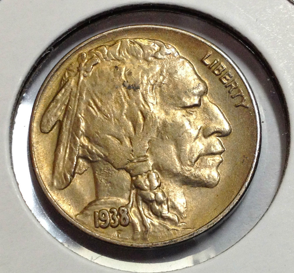 1938 D BUFFALO NICKEL HIGHER GRADE BEAUTIFUL COIN