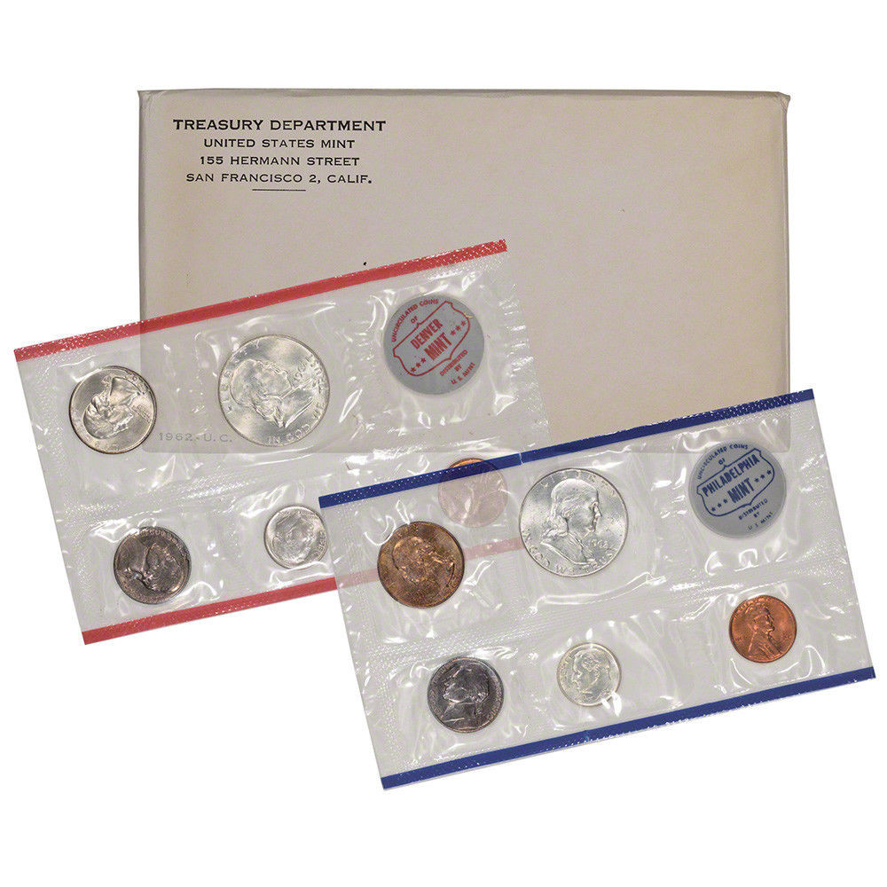1962 United States Mint Uncirculated Coin Set