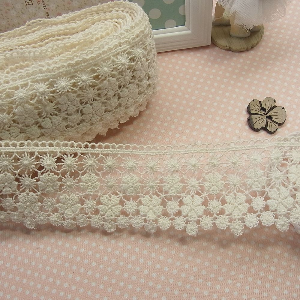 Fresh 1yard Floral Antique Style Scalloped Embroidery Cotton Crochet Material Of Superb 44 Ideas Crochet Material