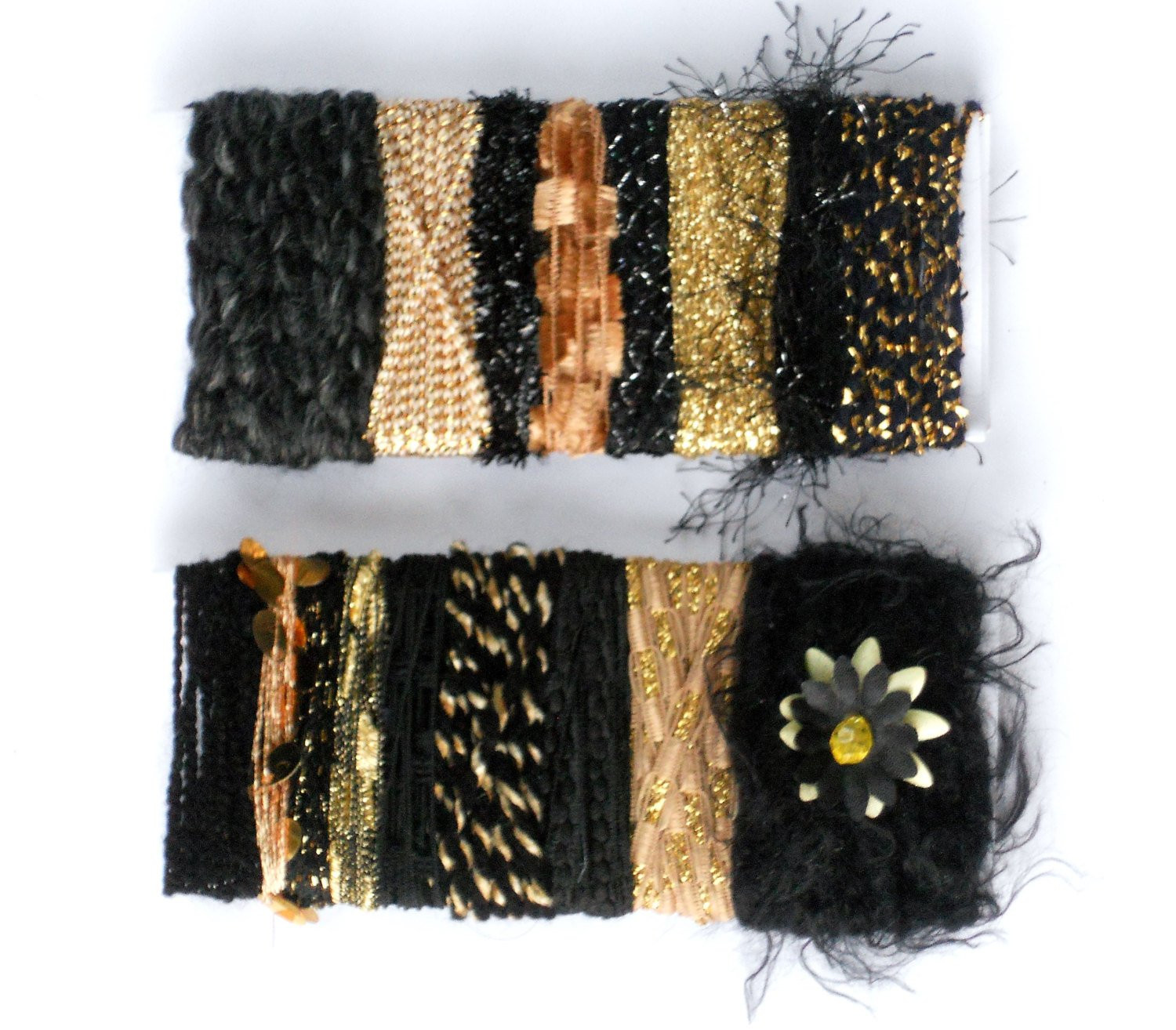 Fresh 2 Black Fiber Bundles Black & Gold Metallic Yarn Sample Card Black and Gold Yarn Of Superb 46 Images Black and Gold Yarn
