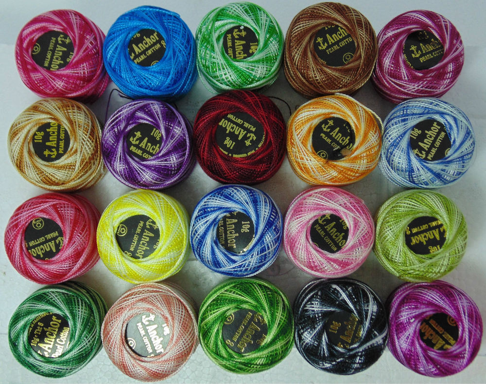 Fresh 20 Variegated Anchor Crochet Cotton Thread Balls 20 Crochet Cotton Thread Of New 50 Pics Crochet Cotton Thread