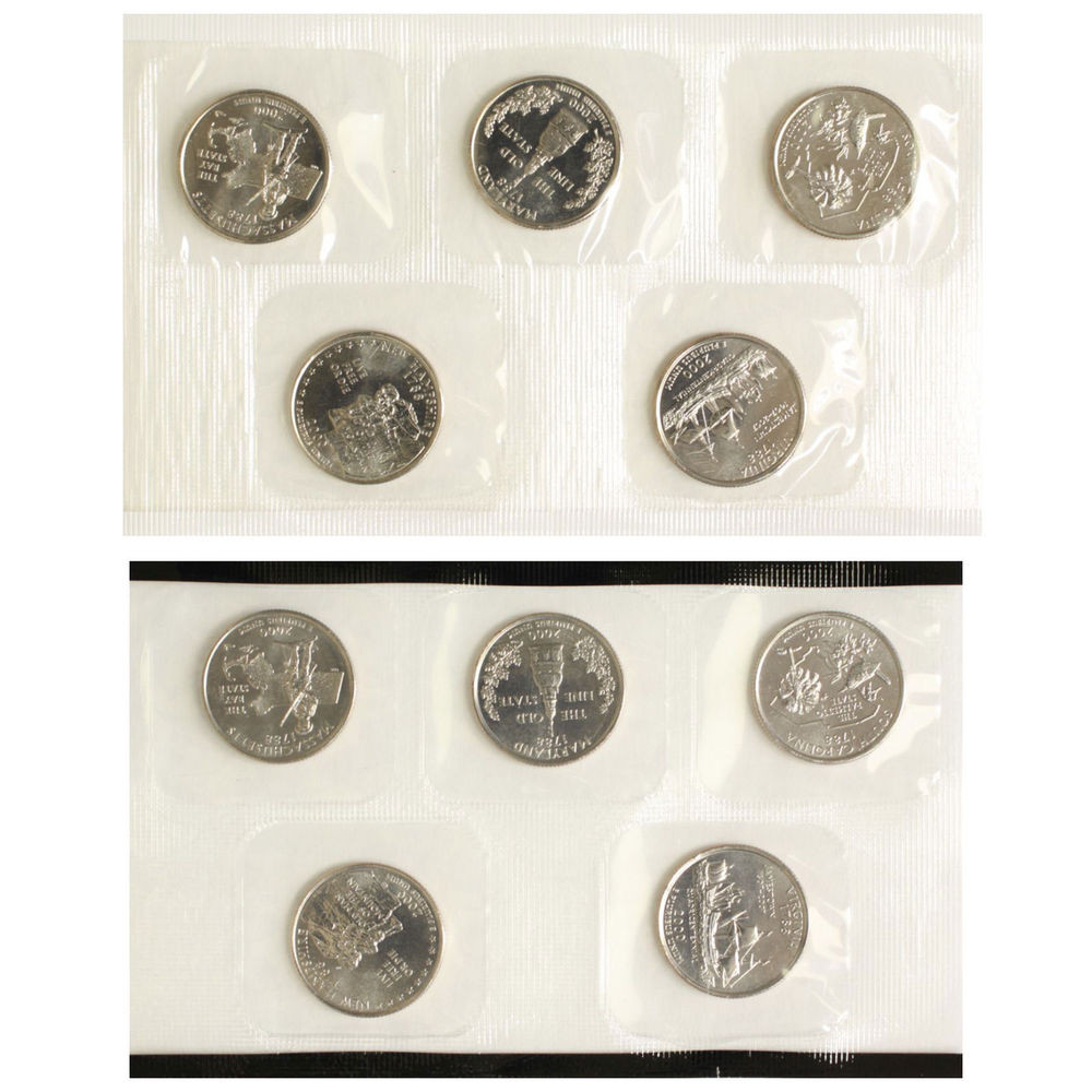 Fresh 2000 P D State Quarter Set In Us Mint Cello Bu 10 Cn Clad State Quarter Set Of Superb 44 Pictures State Quarter Set