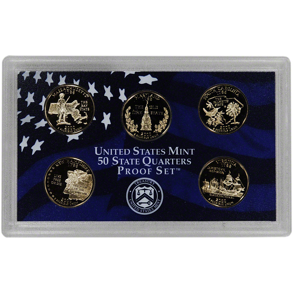 Fresh 2000 United States Mint 50 State Quarters Proof Set™ State Quarter Set Of Superb 44 Pictures State Quarter Set